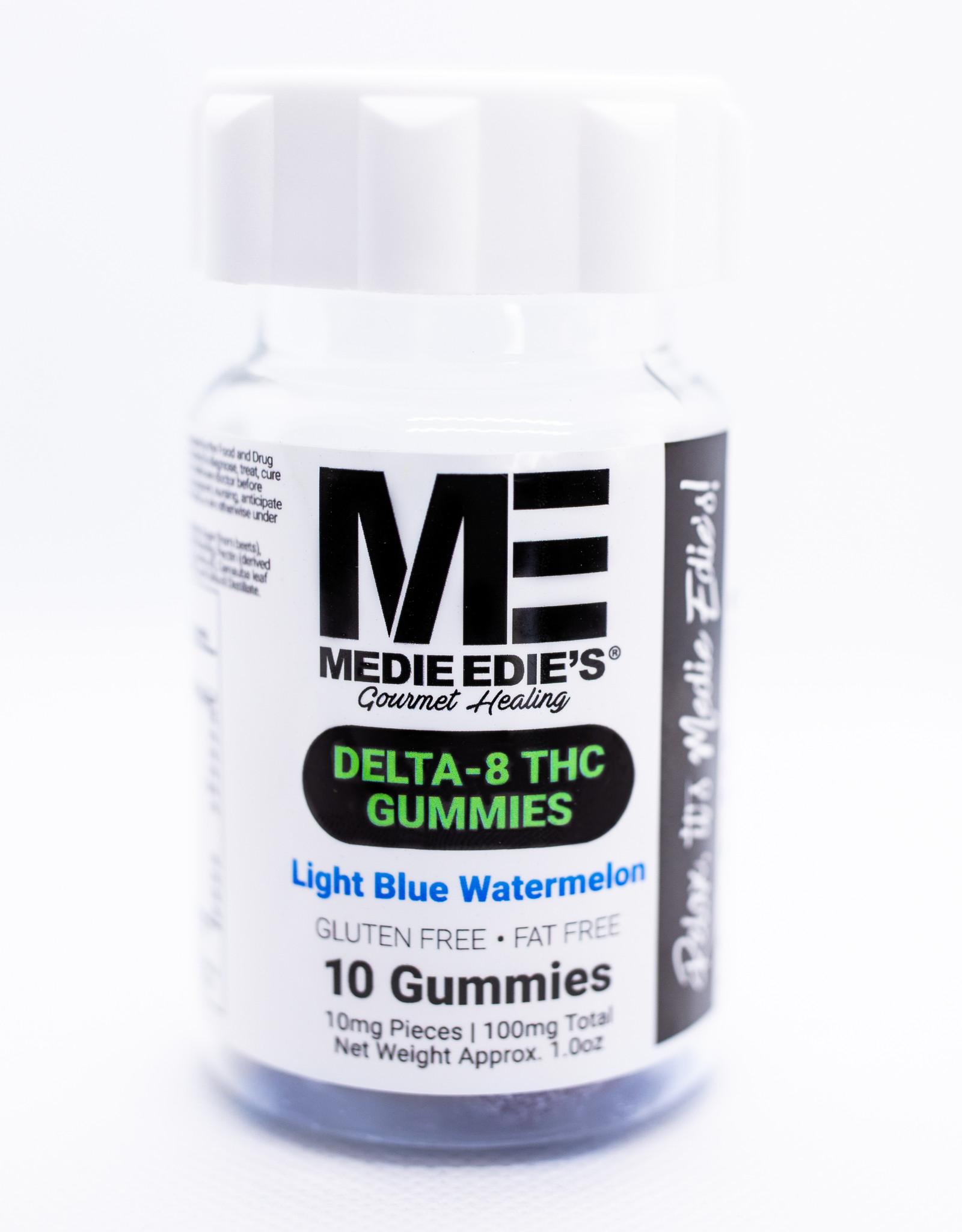 Medie Edie's Medie Edie's 10ct Delta 8 Gummies Light Blue Watermelon -  10mg.100mg