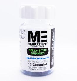 Medie Edie's Medie Edie's - Delta 8 THC Gummies - 10mg/100mg - Light Blue Watermelon