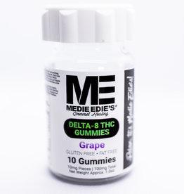 Medie Edie's Medie Edie's 10ct Delta 8 Gummies Grape -  10mg.100mg