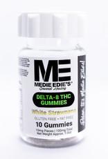 Medie Edie's Medie Edie's - Delta 8 THC Gummies- 10mg/100/mg White Strawnana
