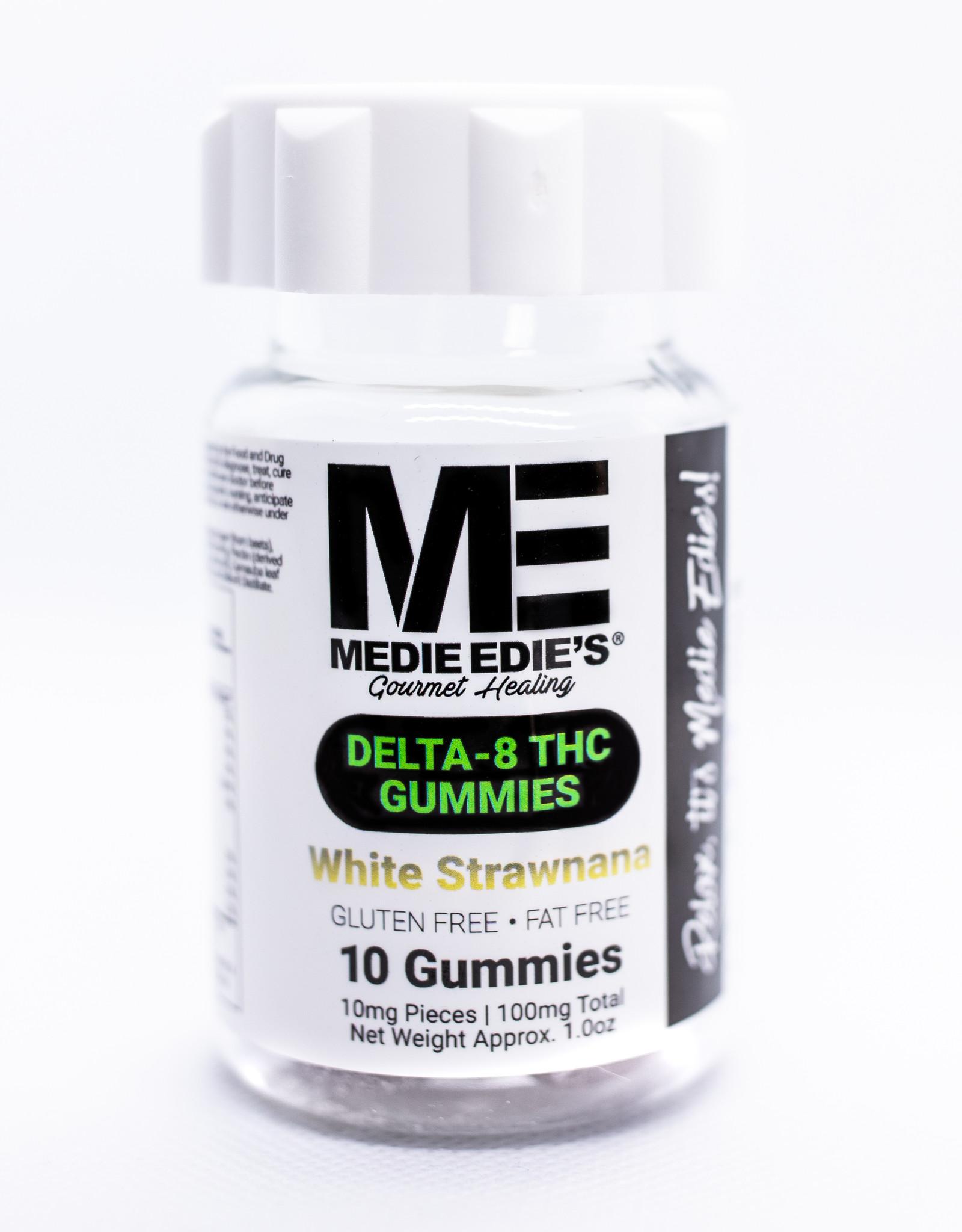 Medie Edie's Medie Edie's 10ct Delta 8 Gummies White Strawnana -  10mg.100mg