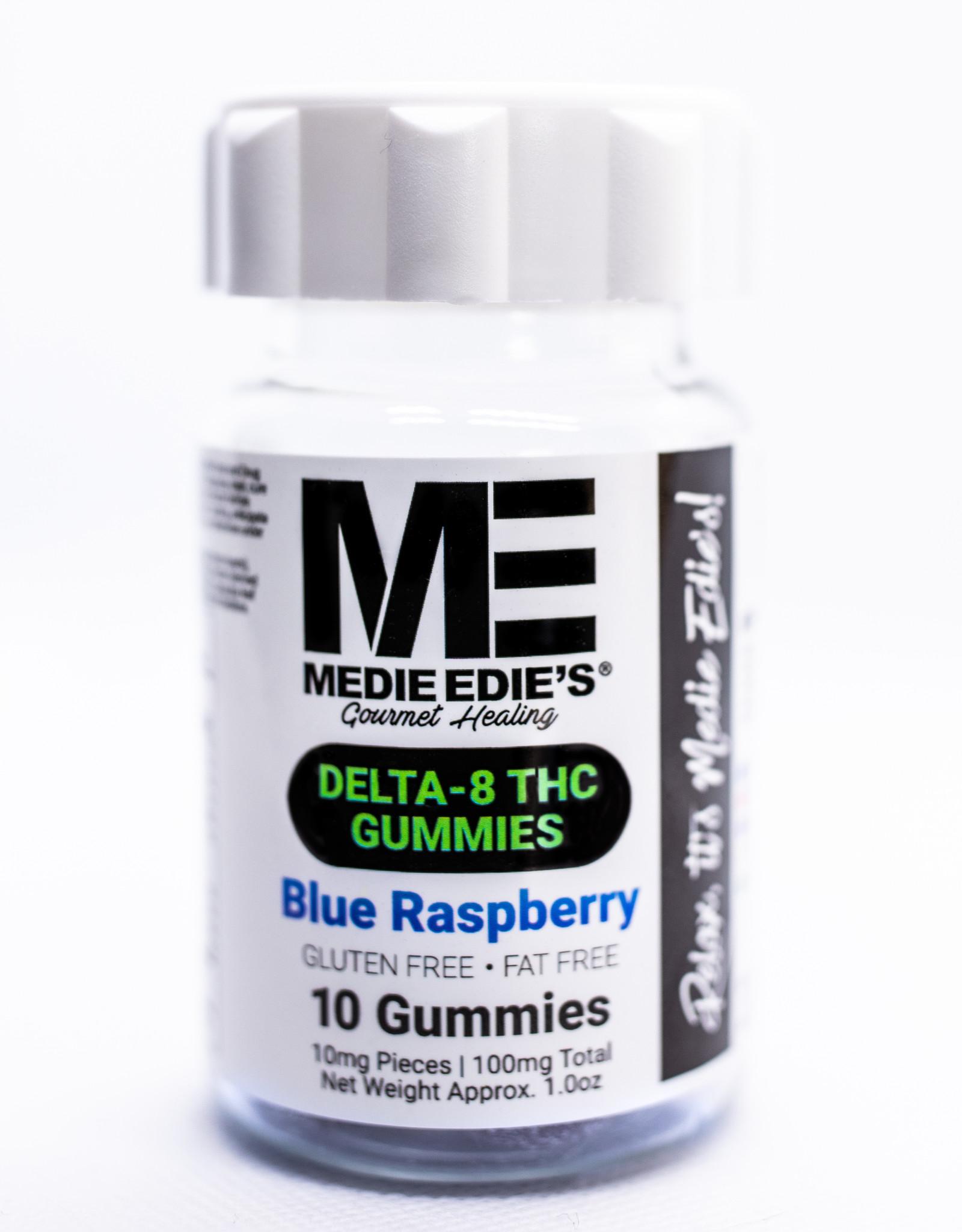 Medie Edie's Medie Edie's 10ct Delta 8 Gummies  Blue Raspberry - 10mg.100mg