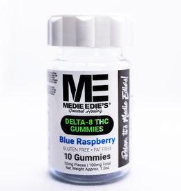 Medie Edie's Medie Edie's - Delta 8 THC Gummies - 10mg/100mg - Blue Raspberry