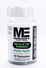 Medie Edie's Medie Edie's 10 ct Delta 8 Gummies Green Apple -  10mg.100mg