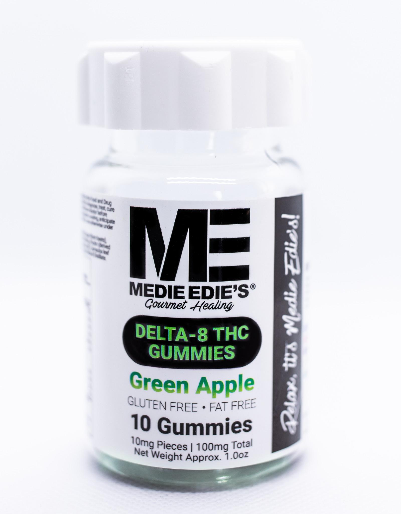 Medie Edie's Medie Edie's Delta 8 THC Gummies- 10mg/100mg - Green Apple