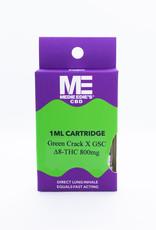 Medie Edie's Medie Edie's Delta-8 Vape Cartridge - 800mg - 1mL - Green Crack X GSC