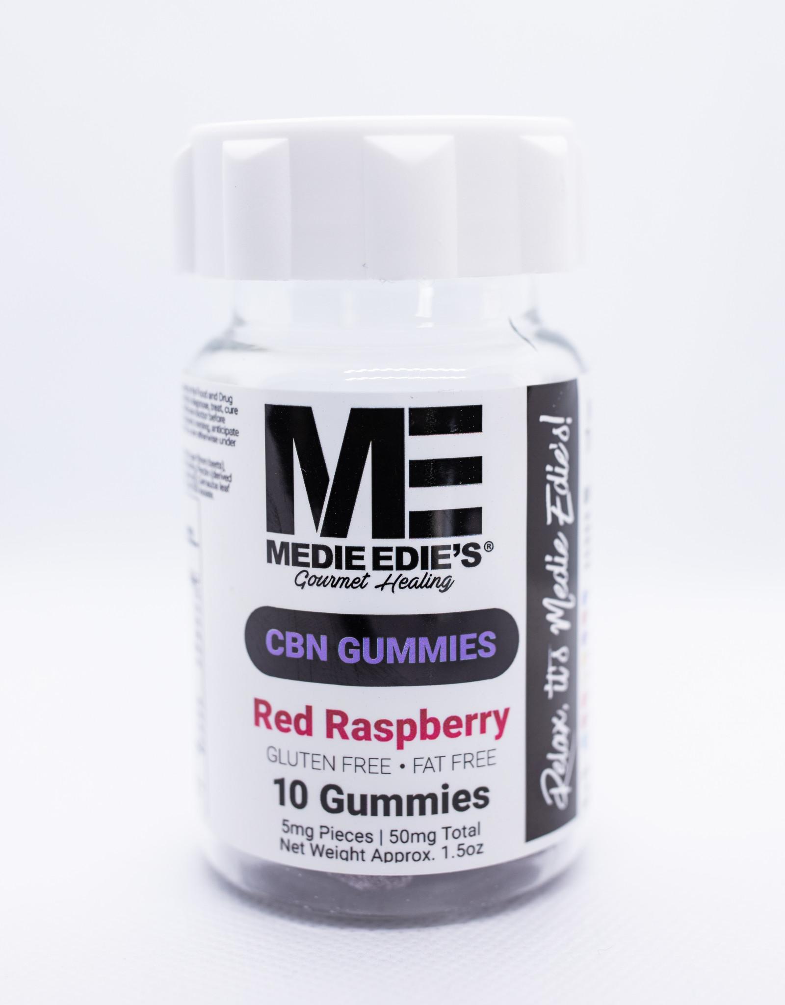 Medie Edie's Red Raspberry CBN Gummies - 10ct/5mg/50mg