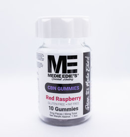 Medie Edie's Medie Edie's Red Raspberry CBN Gummies - 10ct/5mg/50mg