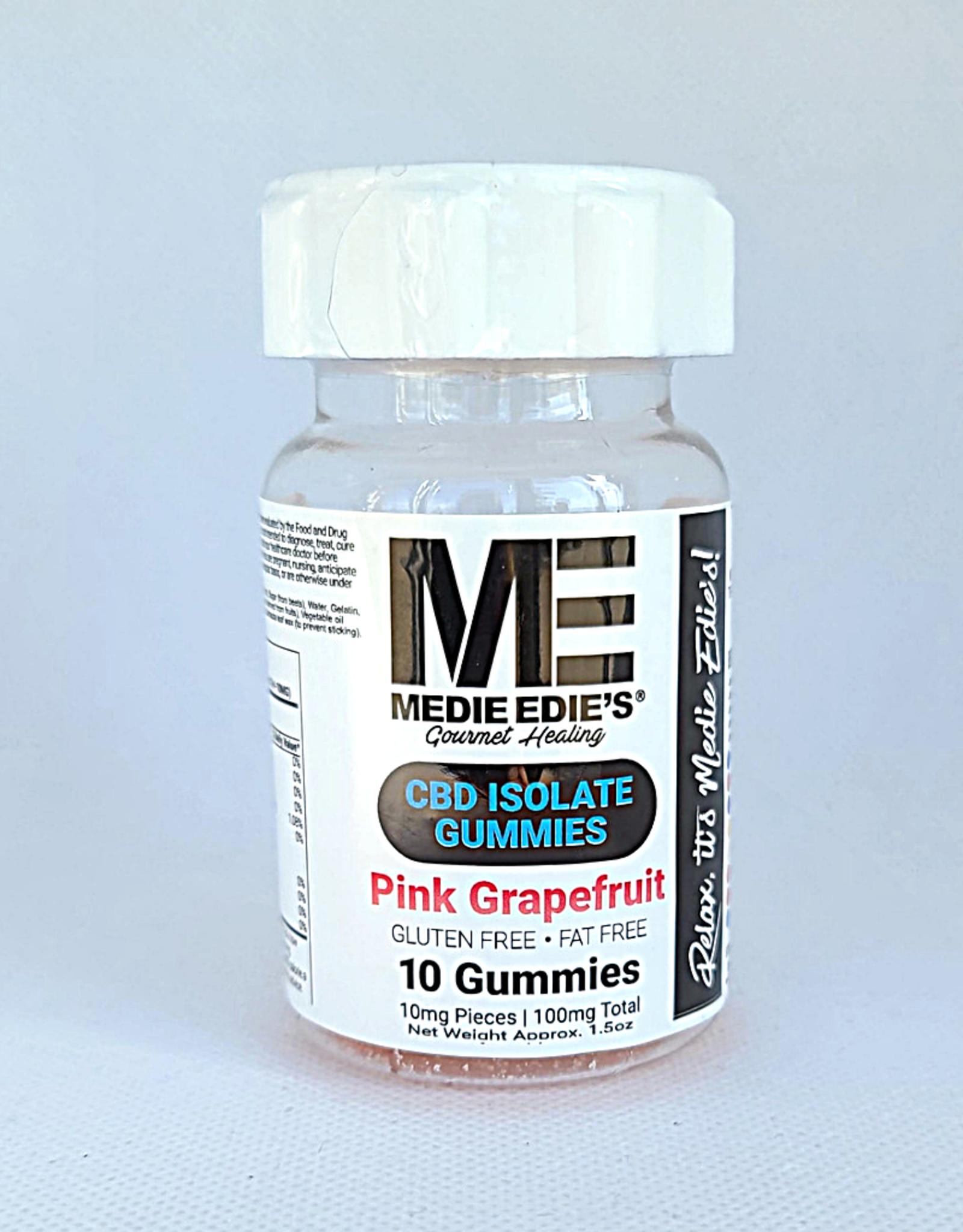 Medie Edie's Medie Edie's 10ct CBD Gummies Pink Grapefruit -  10mg.100mg