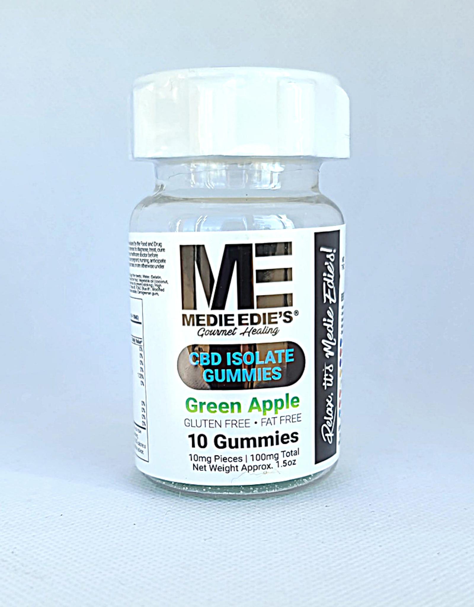 Medie Edie's Medie Edie's 10ct CBD Gummies Green Apple  - 10mg.100mg