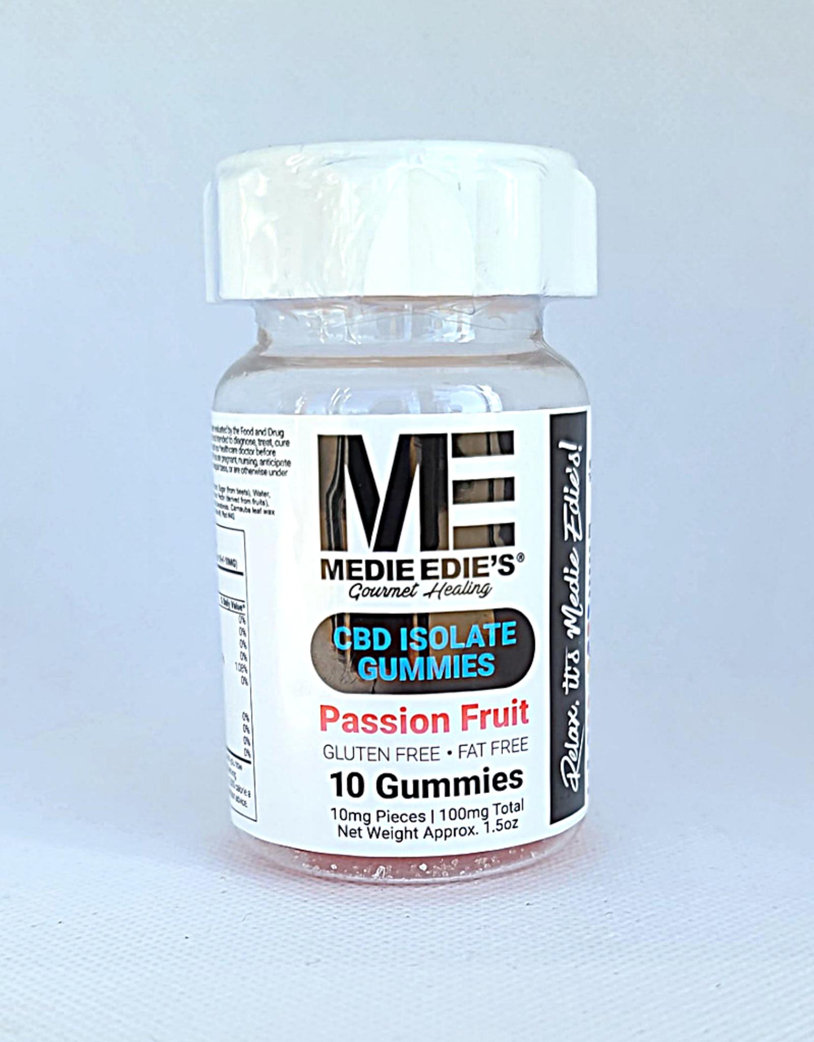 Medie Edie's Passion Fruit CBD Gummies - 10ct/10mg/100mg
