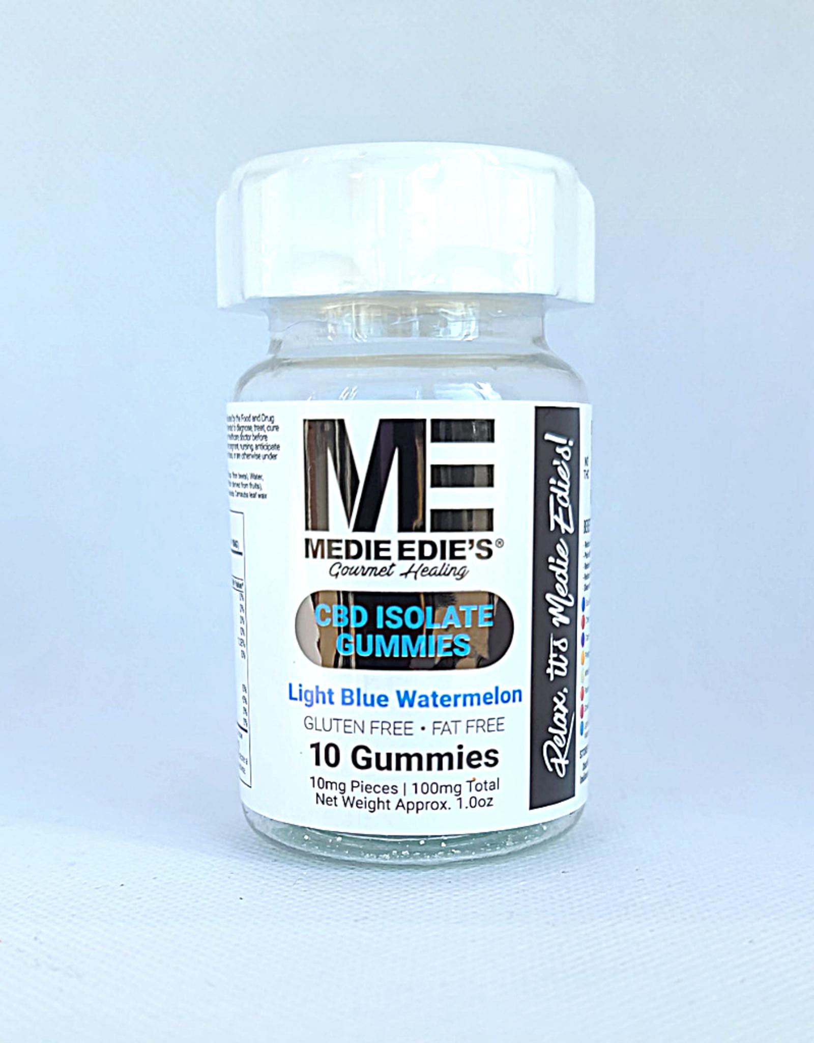 Medie Edie's Light Blue Watermelon CBD Gummies - 10ct/10mg/100mg