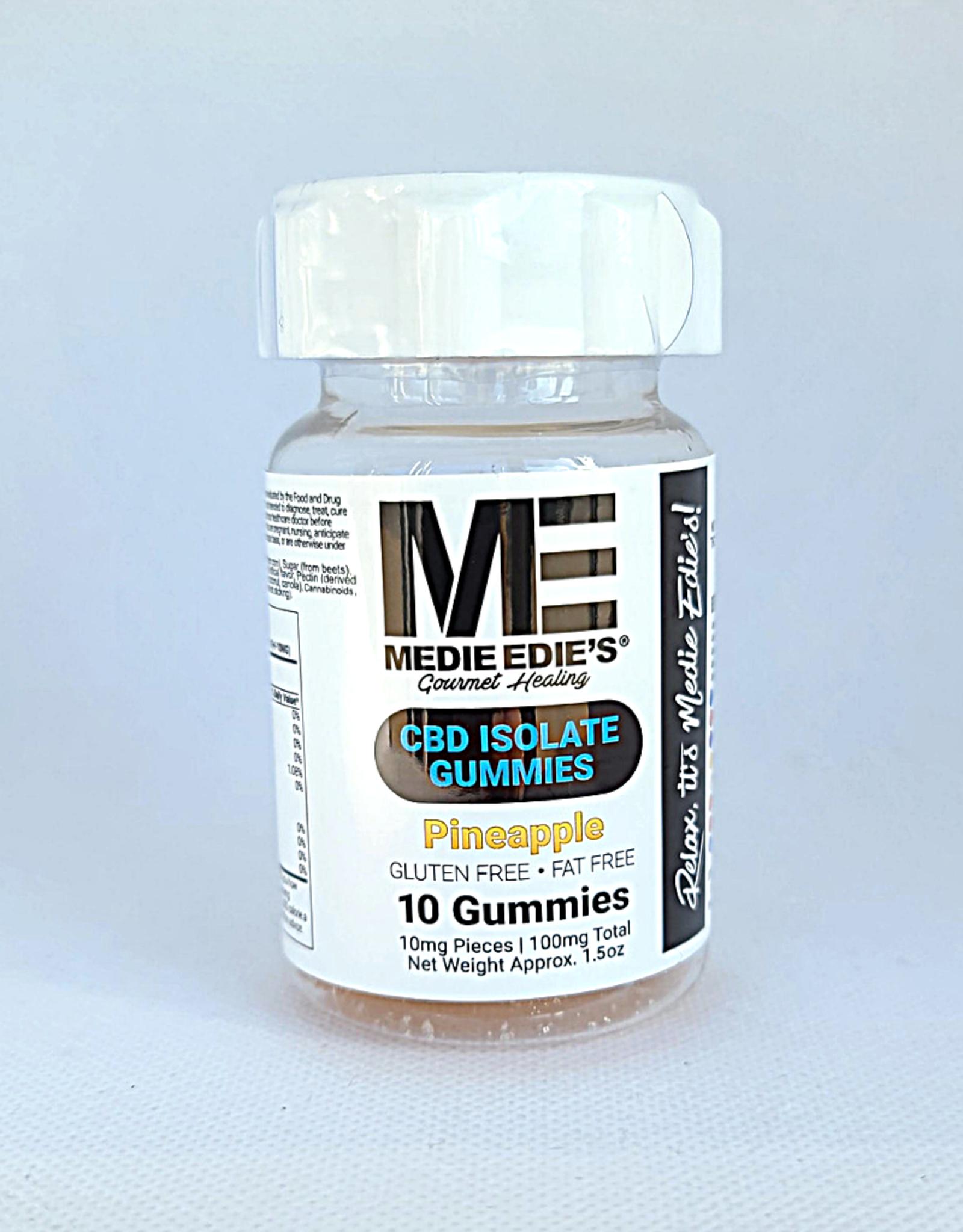 Medie Edie's Pineapple CBD Gummies - 10ct/10mg/100mg