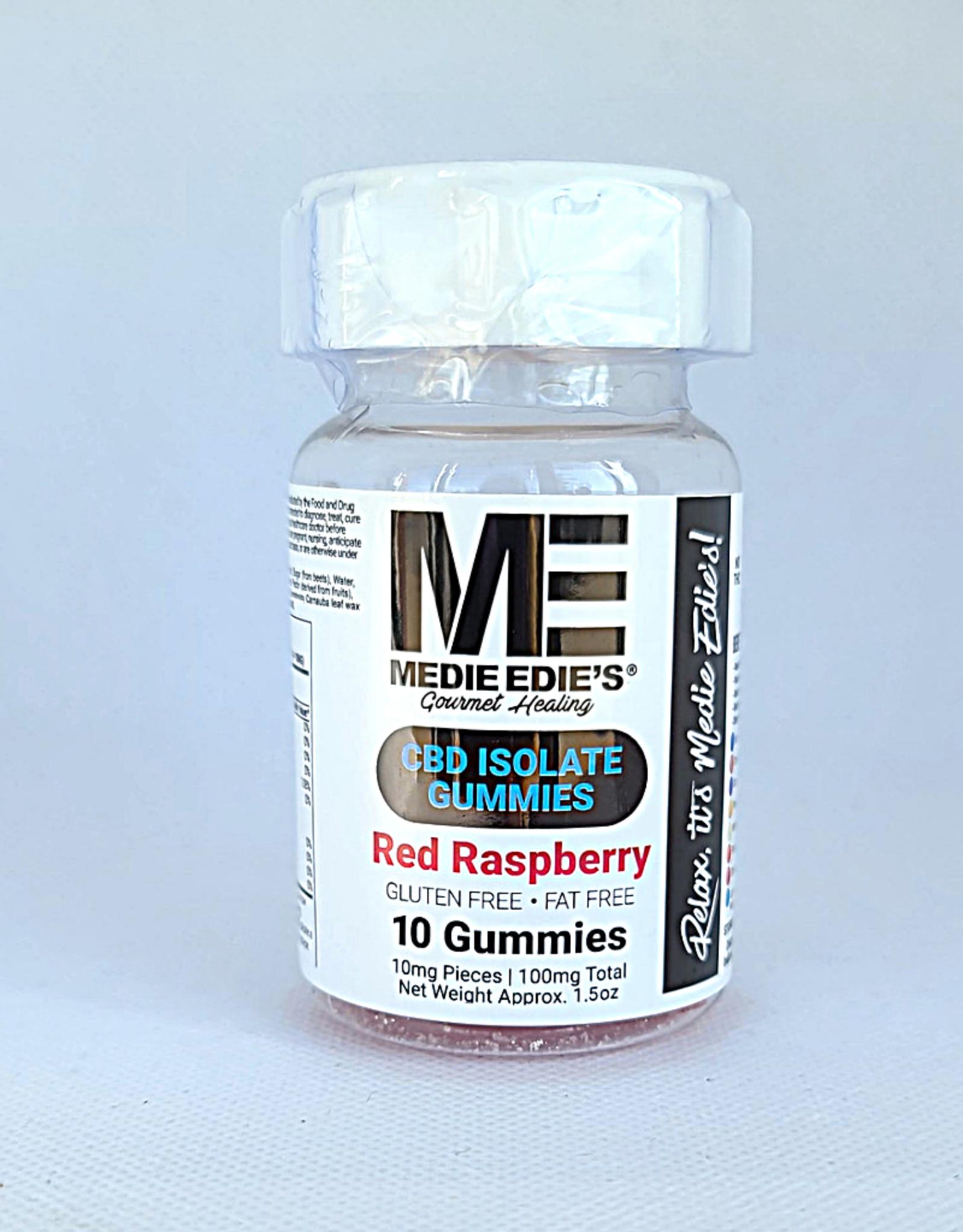 Medie Edie's Red Raspberry CBD Gummies - 10ct/10mg/100mg