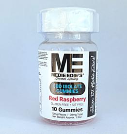 Medie Edie's Medie Edie's Red Raspberry CBD Gummies - 10ct/10mg/100mg