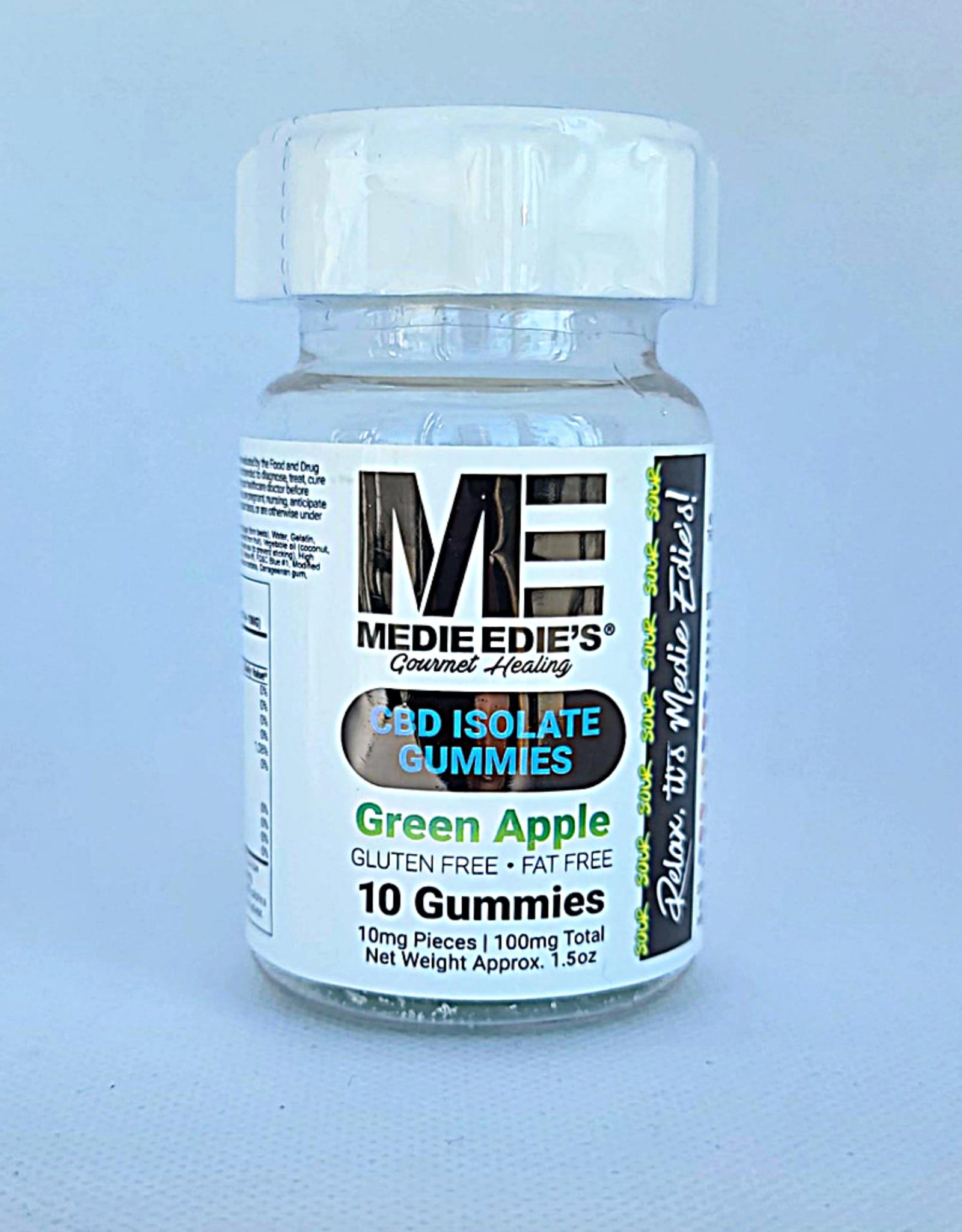 Medie Edie's Medie Edie's 10ct CBD Gummies Sour  Green Apple - 10mg.100mg