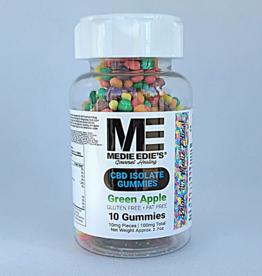 Medie Edie's Medie Edie's 10ct CBD Gummies Pebbled Green Apple -  10mg.100mg