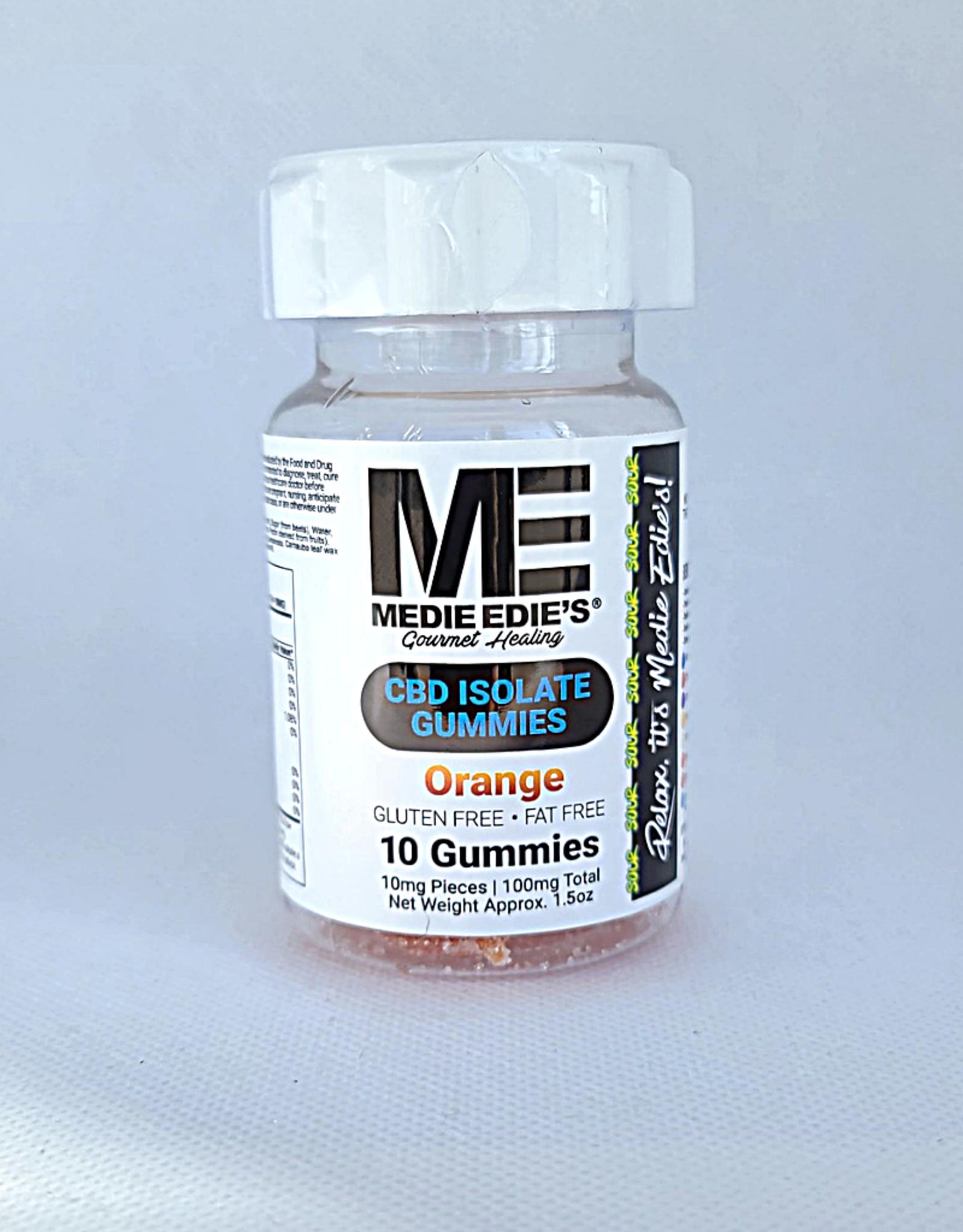 Medie Edie's Sour Orange CBD Gummies - 10ct/10mg/100mg