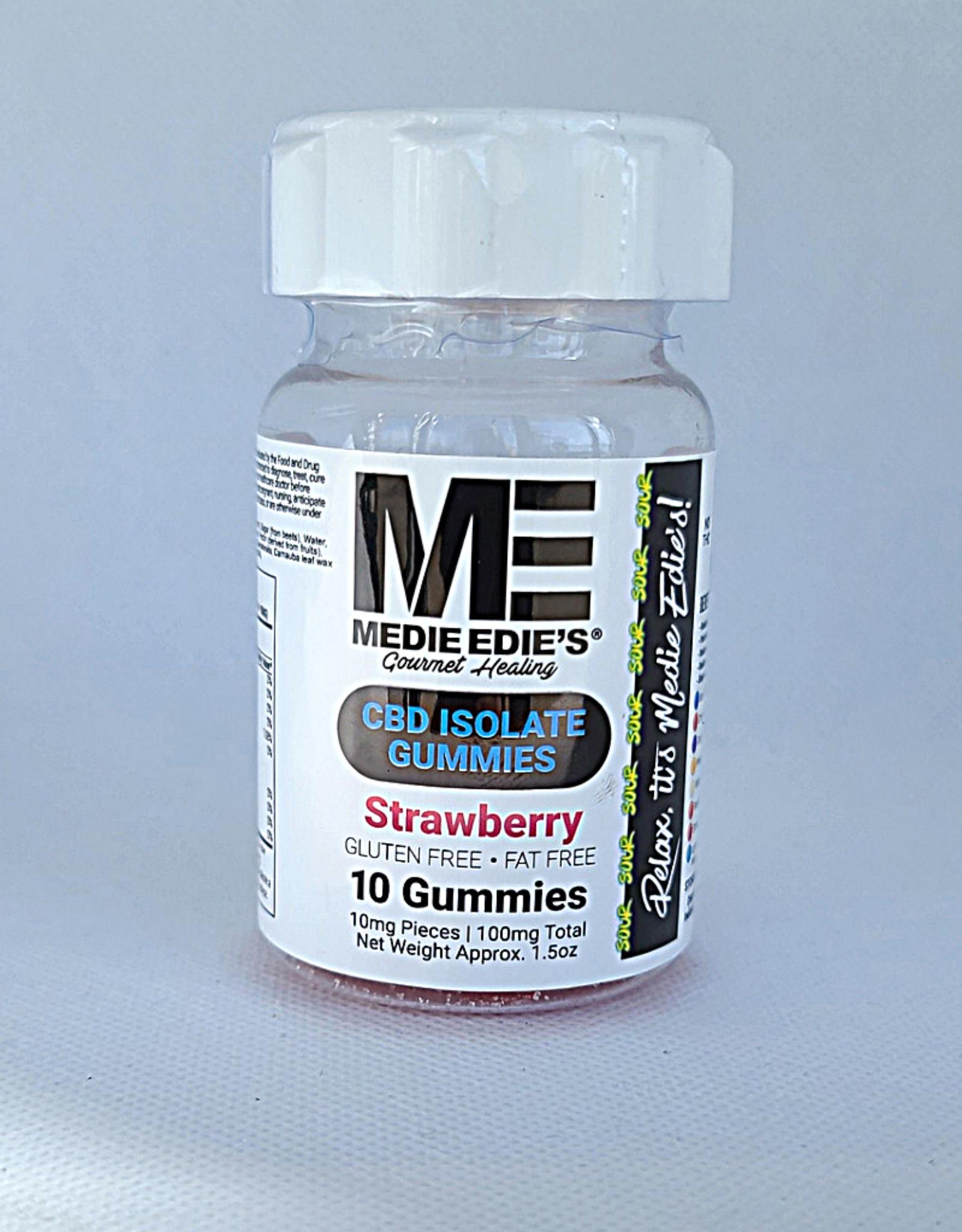 Medie Edie's Sour Strawberry CBD Gummies - 10ct/10mg/100mg