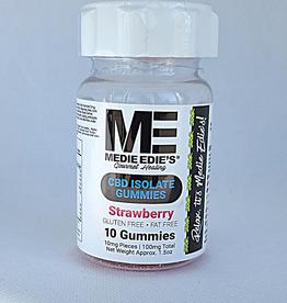 Medie Edie's Medie Edie's Sour Strawberry CBD Gummies - 10ct/10mg/100mg
