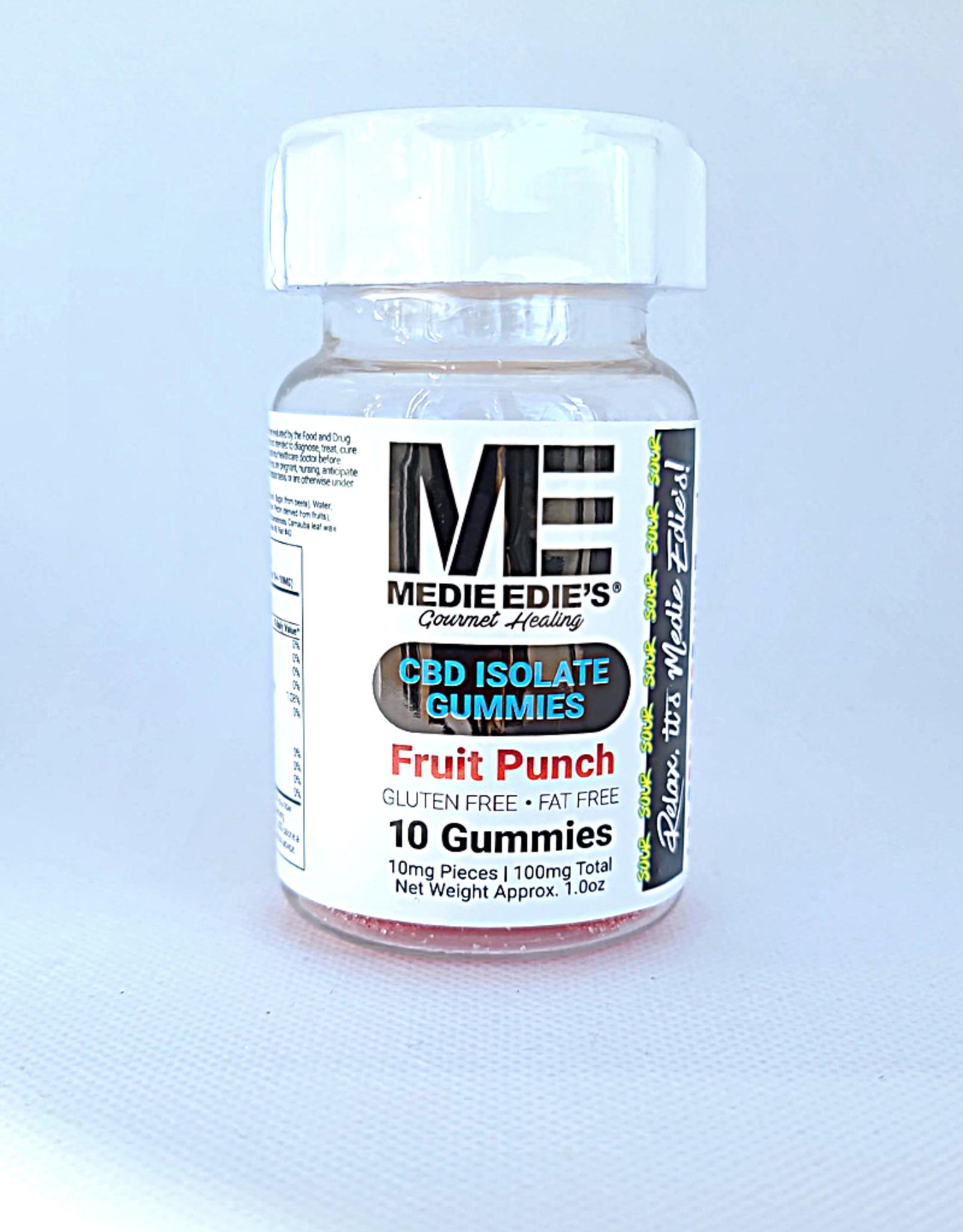 Medie Edie's Sour Fruit Punch CBD Gummies - 10ct/10mg/100mg
