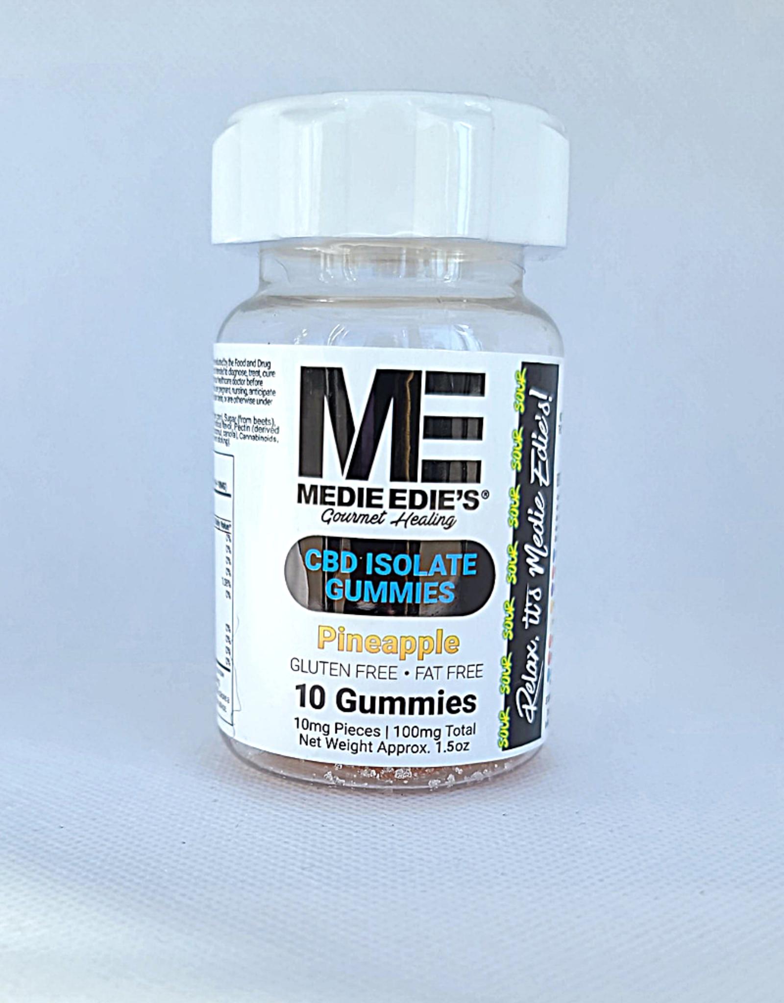 Medie Edie's Sour Pineapple CBD Gummies - 10ct/10mg/100mg