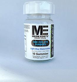 Medie Edie's Medie Edie's Sour Light Blue Watermelon CBD Gummies - 10ct/10mg/100mg