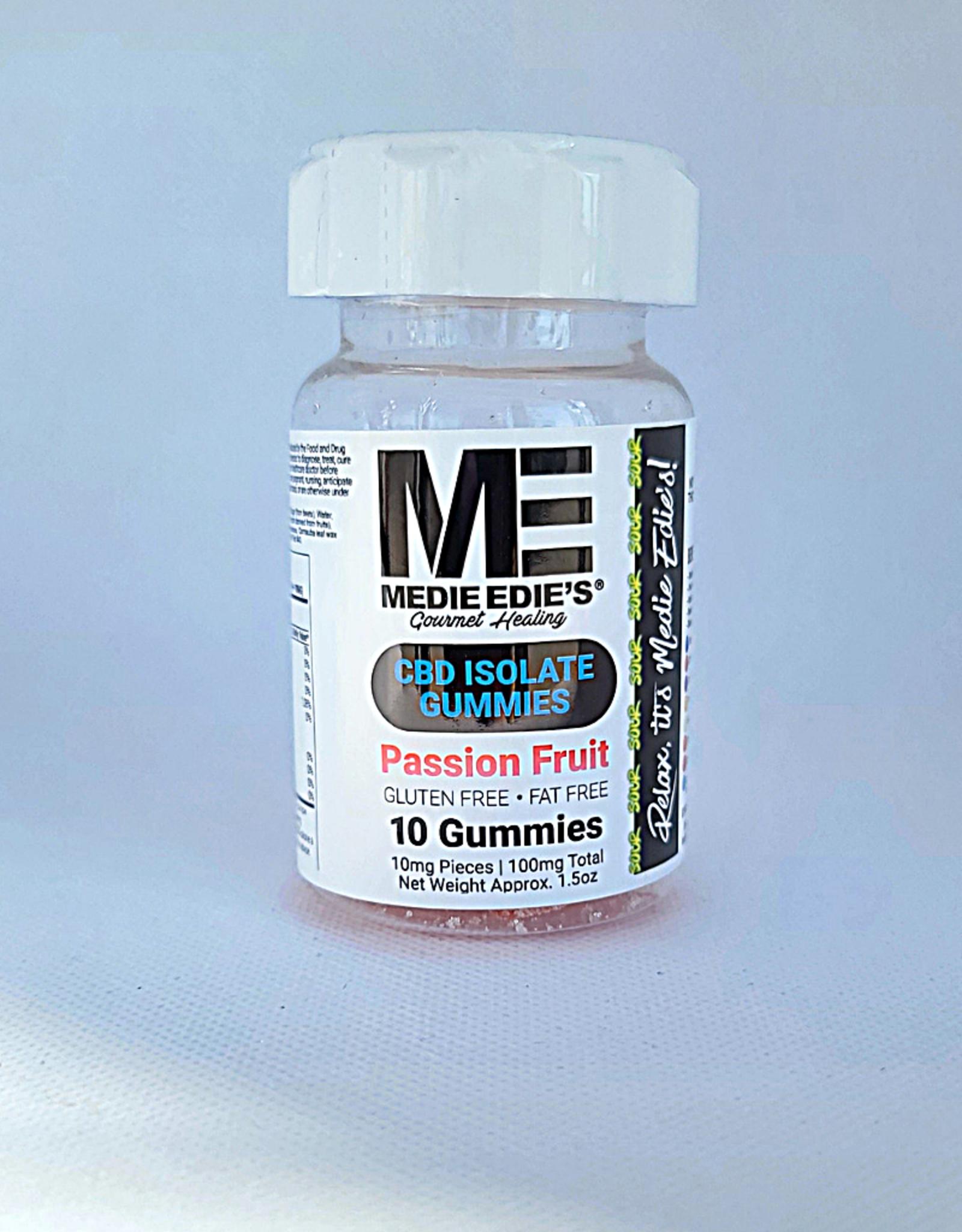 Medie Edie's Sour Passion Fruit CBD Gummies - 10ct/10mg/100mg