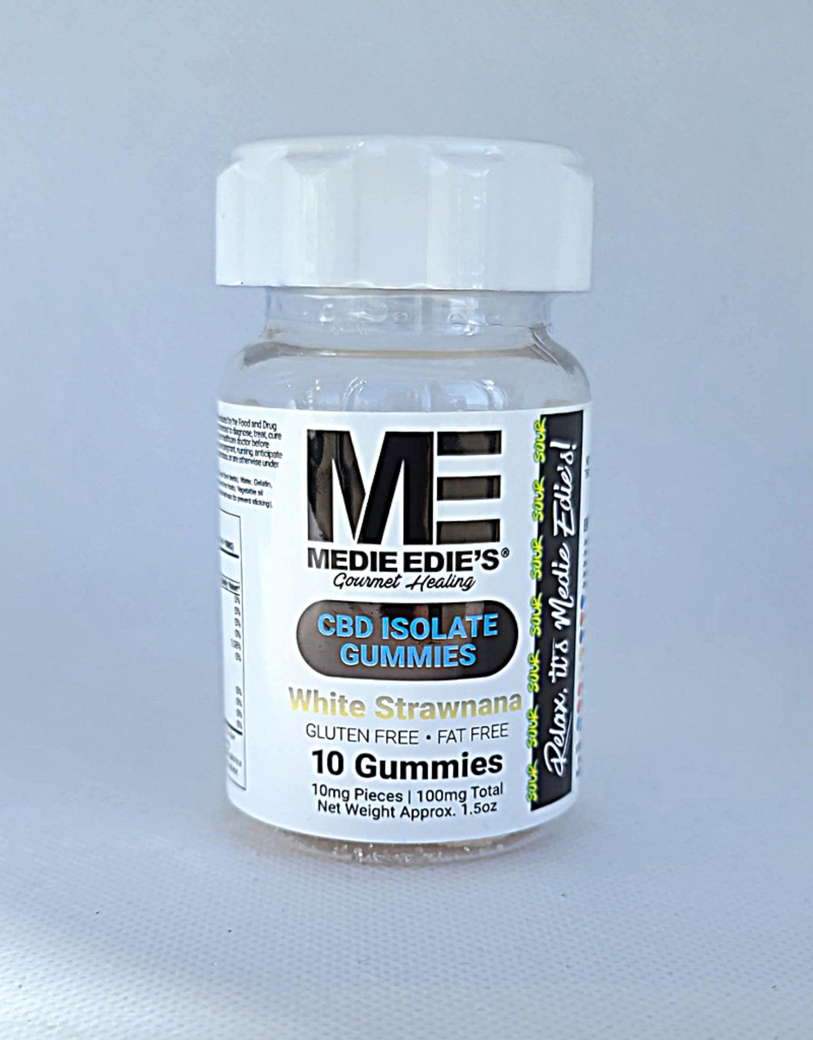 Medie Edie's Sour White Strawnana CBD Gummies - 10t/10mg/100mg