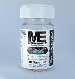 Medie Edie's Medie Edie's Sour White Strawnana CBD Gummies - 10t/10mg/100mg