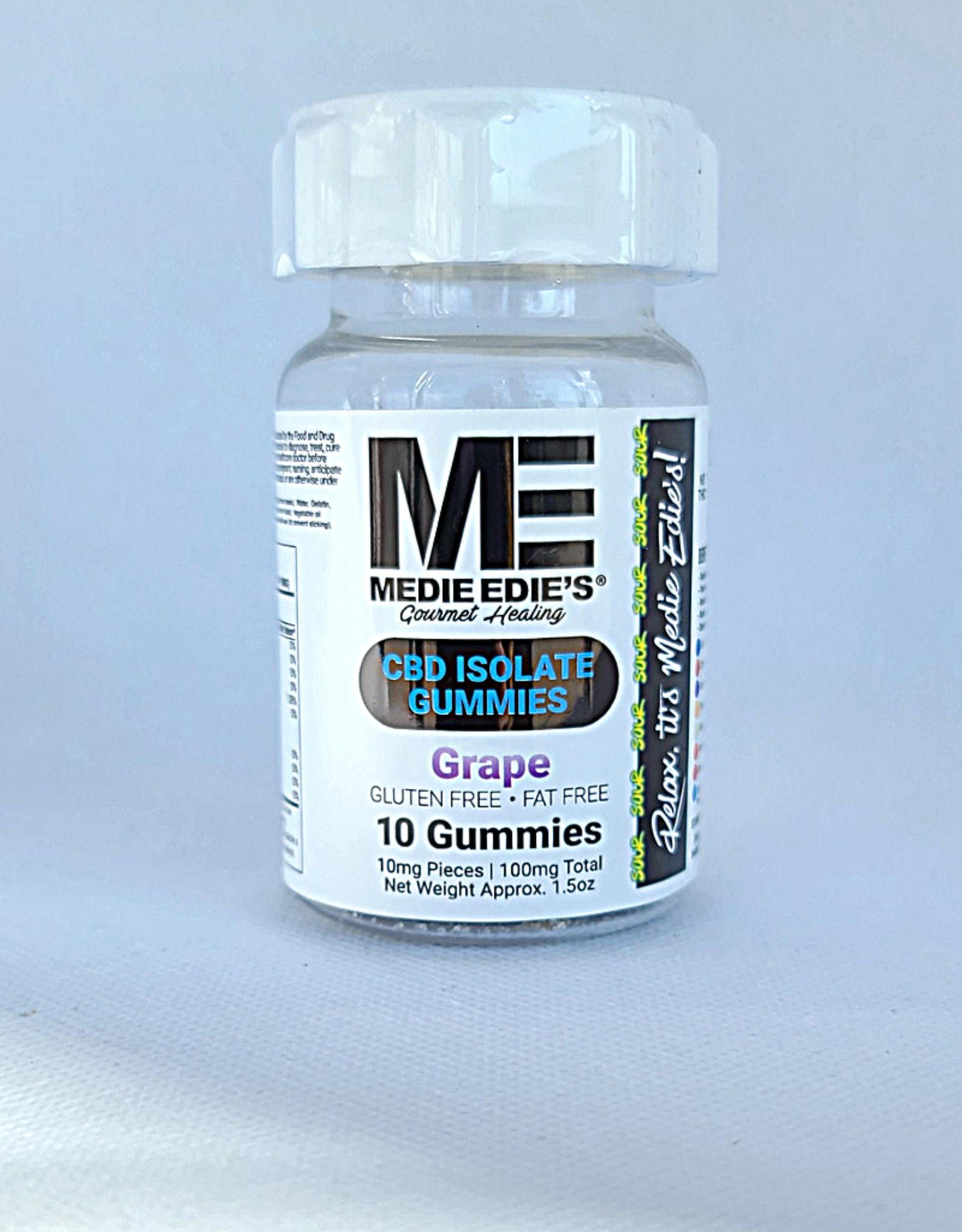 Medie Edie's Sour Grape CBD Gummies - 10ct/10mg/100mg
