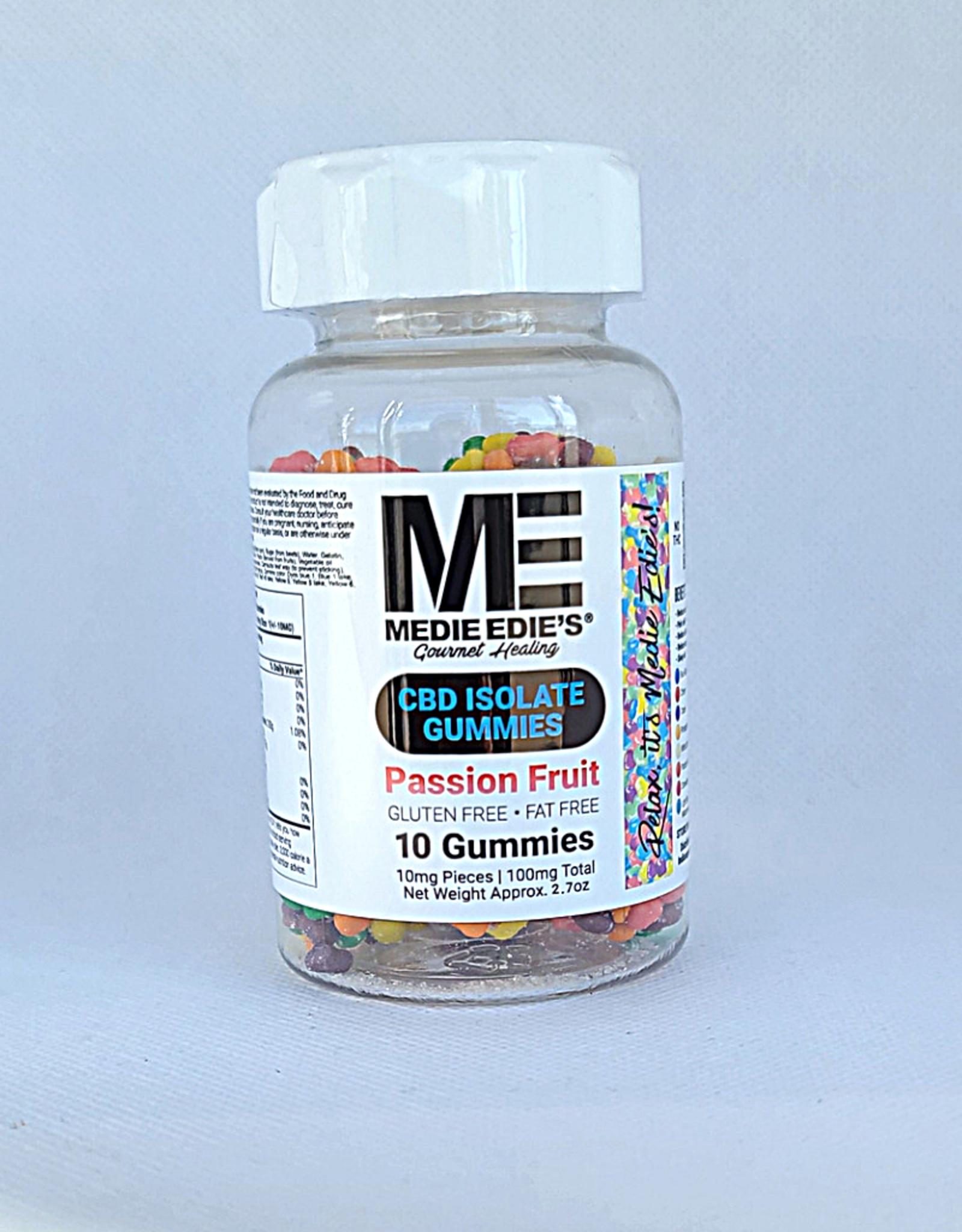 Medie Edie's Pebbled Passion Fruit CBD Gummies - 10ct/10mg/100mg