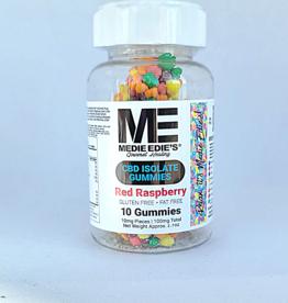 Medie Edie's Medie Edie's  Pebbled Red Raspberry CBD Gummies - 10ct/10mg/100mg