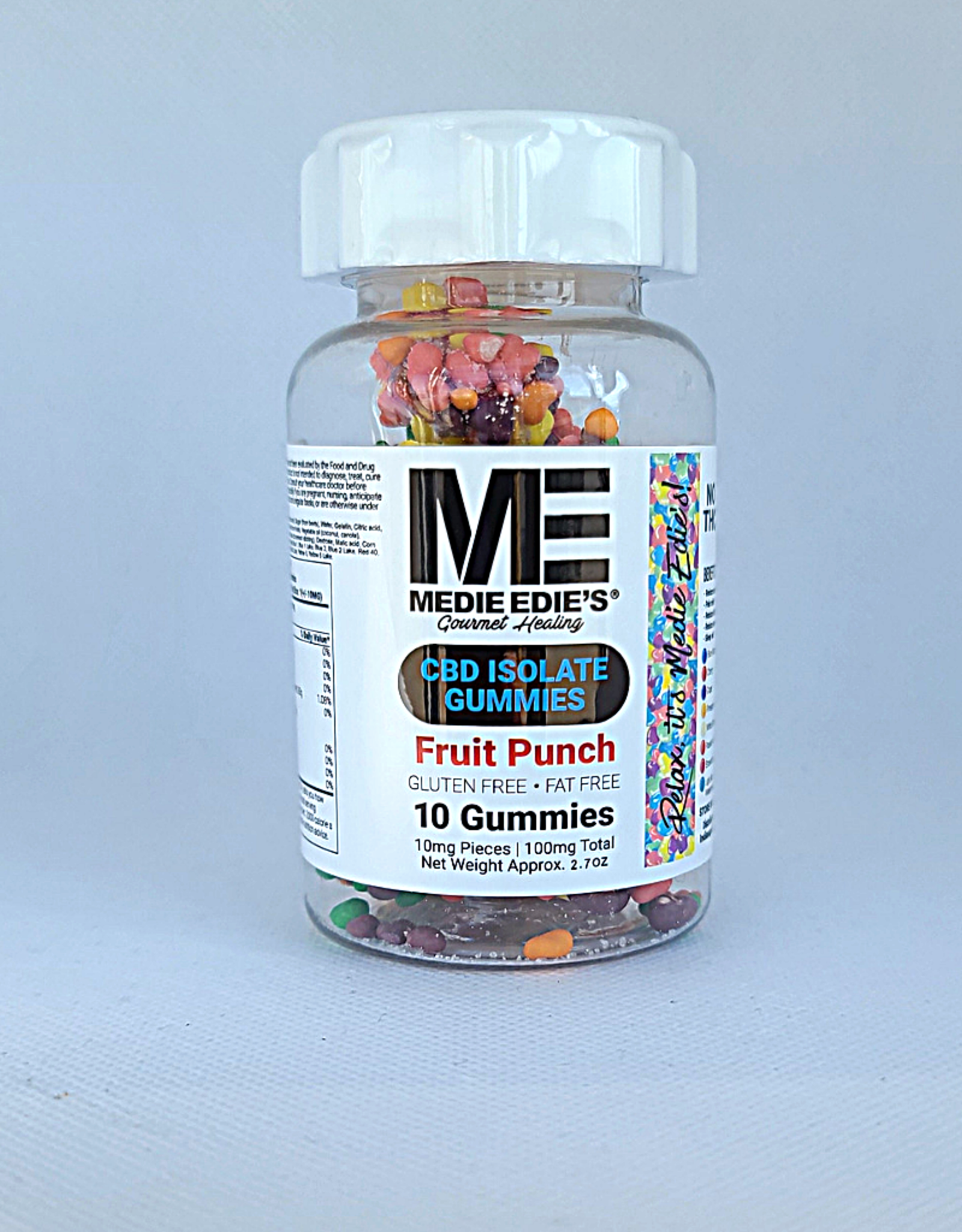Medie Edie's Pebbled Fruit Punch CBD Gummies - 10ct/10mg/100mg