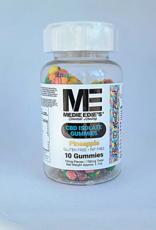 Medie Edie's Pebbled Pineapple CBD Gummies - 10ct/10mg/100mg