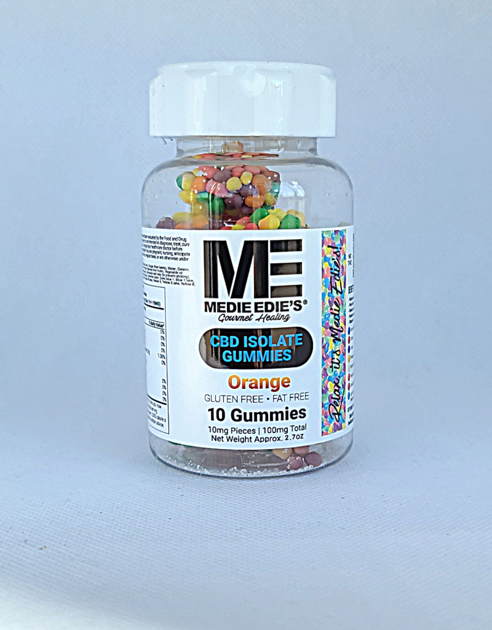 Medie Edie's Pebbled Orange CBD Gummies - 10ct/10mg/100mg