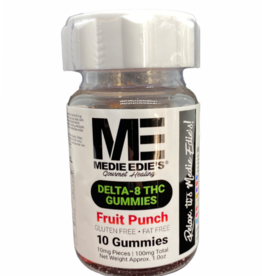 Medie Edie's Medie Edie's 10ct Delta 8 Gummies Fruit Punch-10mg.100mg