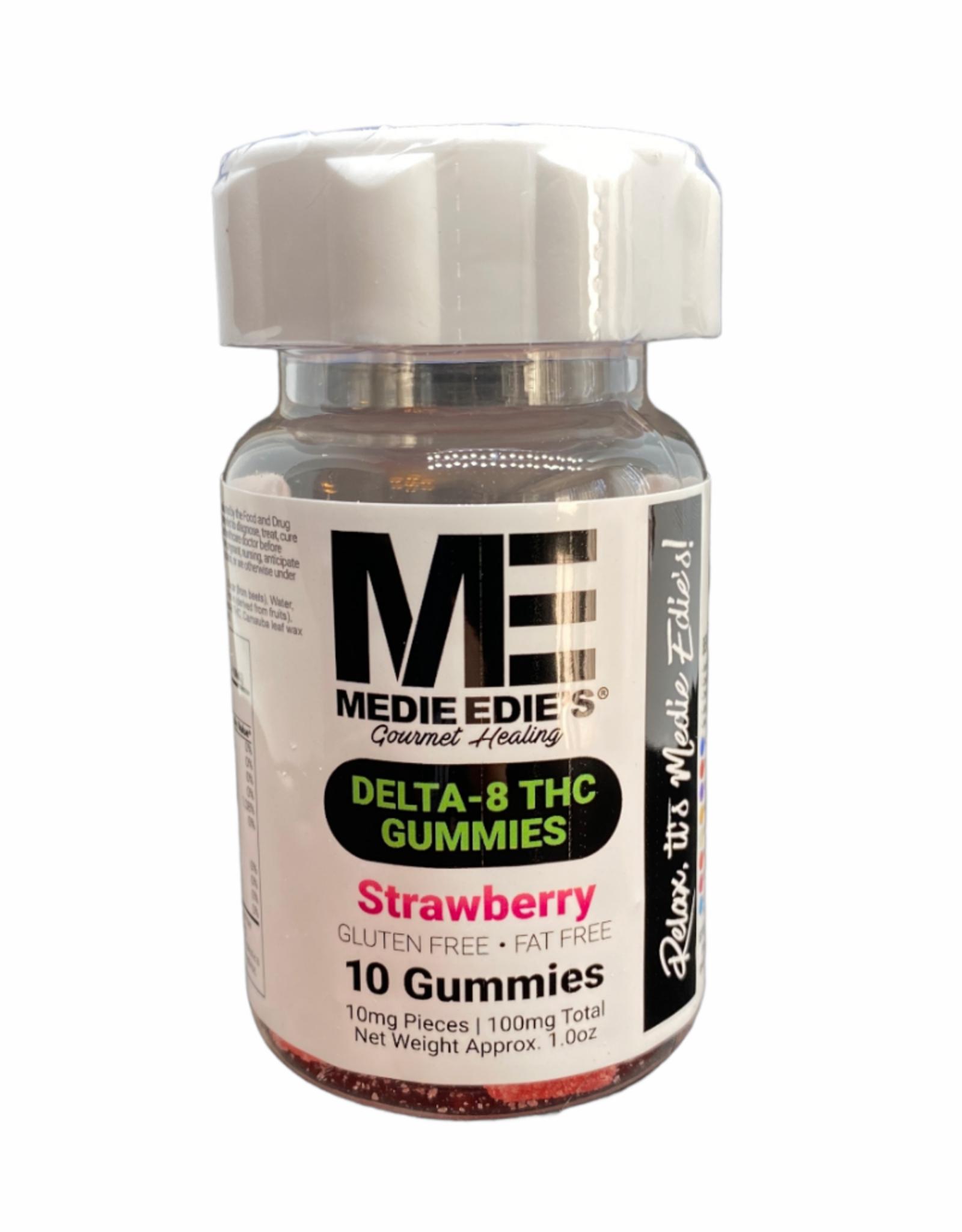 Medie Edie's Medie Edie's 10ct Delta 8 Gummies Strawberry-10mg.100mg