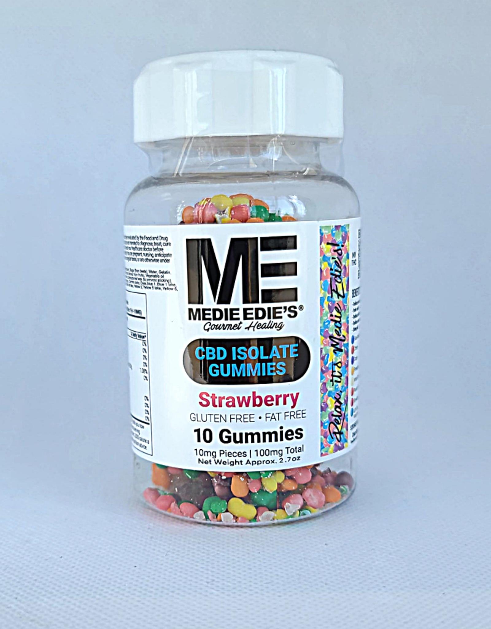 Medie Edie's Pebbled Strawberry CBD Gummies - 10ct/10mg/100mg