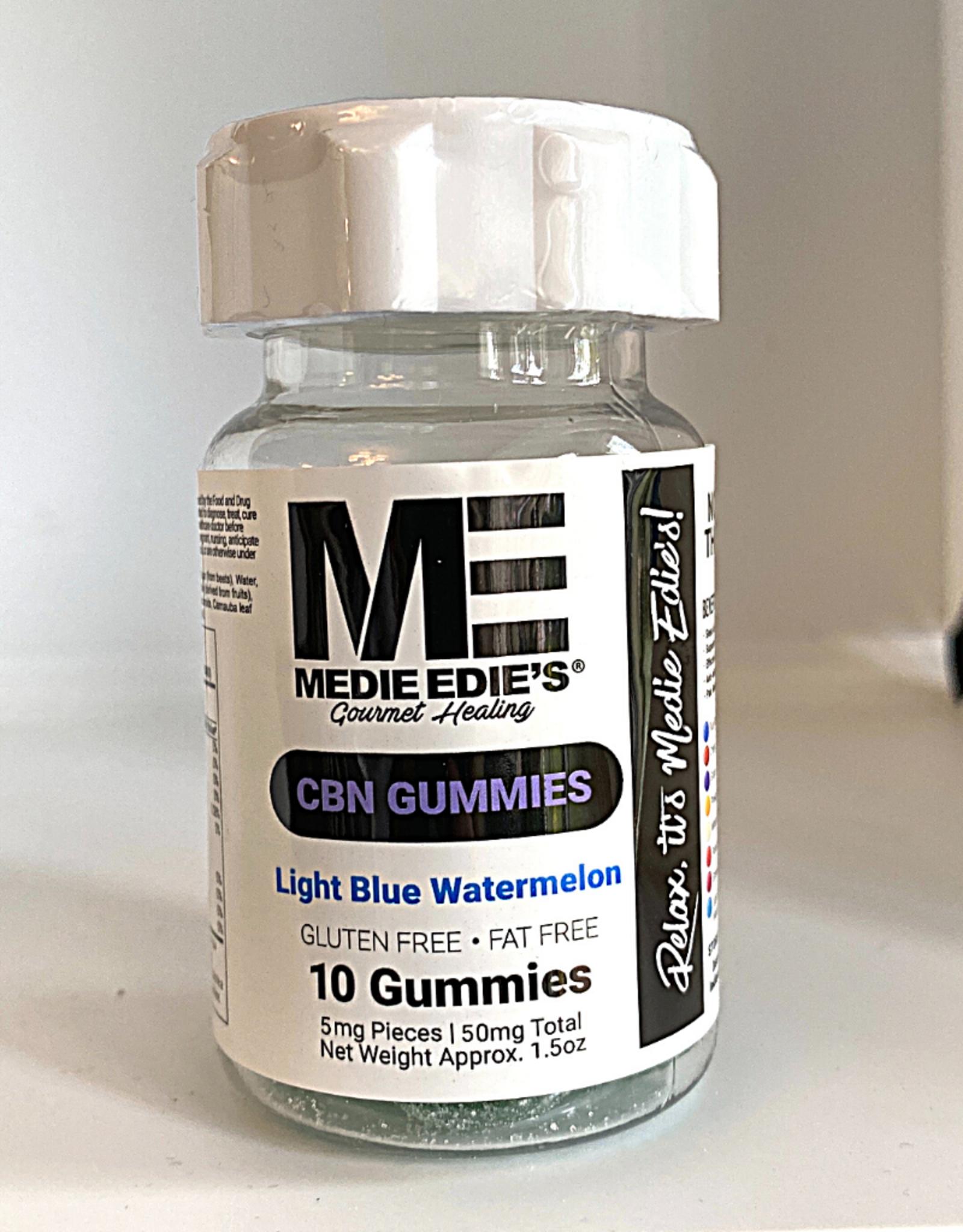 Medie Edie's Medie Edie's 10ct CBN Gummies Light Blue Watermelon -5mg.50mg