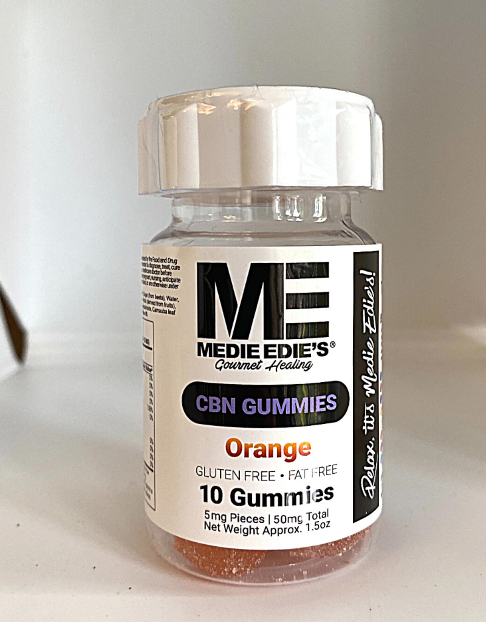 Medie Edie's Medie Edie's 10ct CBN Gummies Orange 5mg.50mg