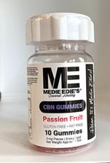 Medie Edie's Medie Edie's 10ct CBN Gummies Passion Fruit- 5mg.50mg