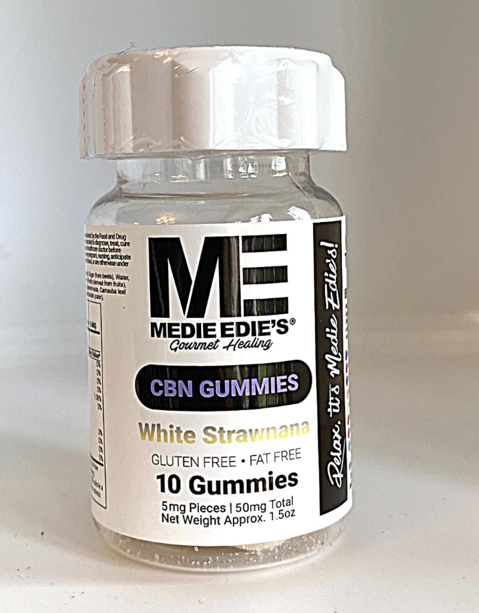 Medie Edie's Medie Edie's 10ct CBN Gummies White Strawnana-5mg.50mg