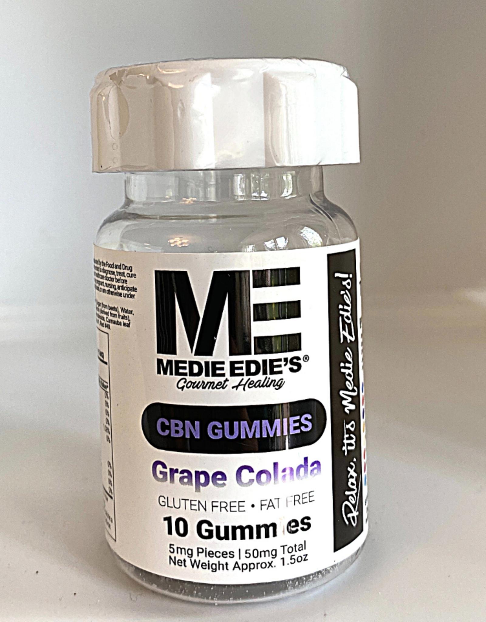 Medie Edie's Medie Edie's 10ct CBN Gummies Grape Colada- 5mg.50mg