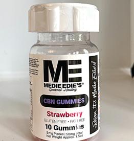 Medie Edie's Medie Edie's 10ct CBN Gummies Strawberry-5mg.50mg