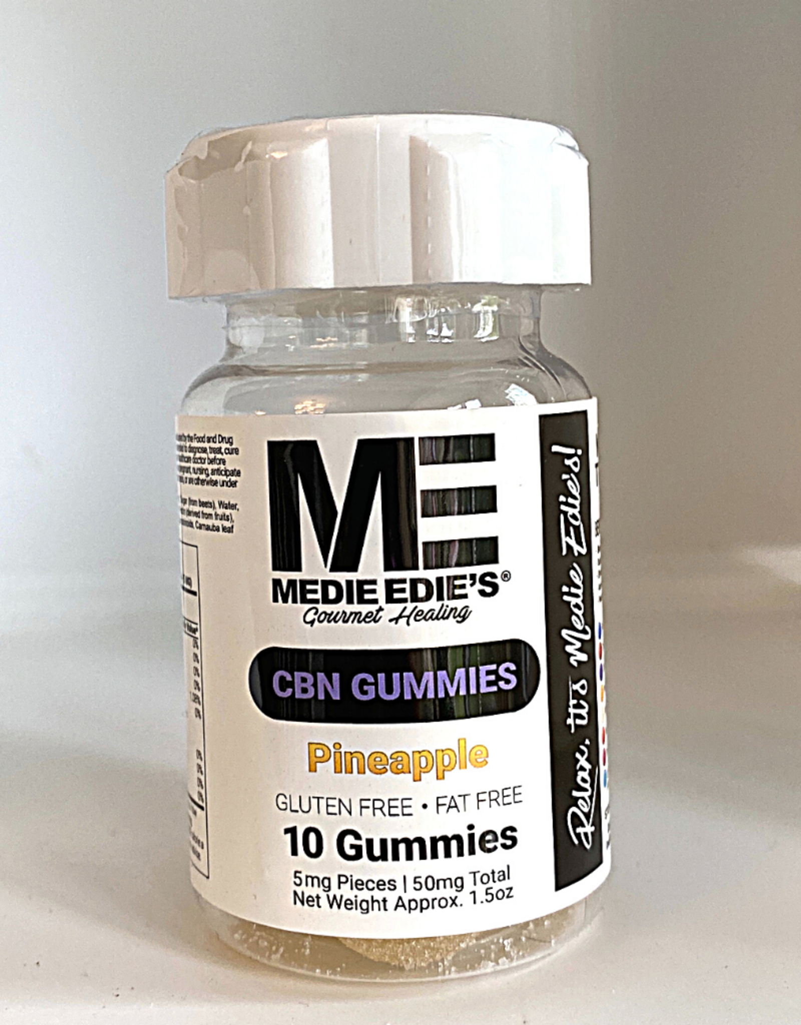 Medie Edie's Medie Edie's 10ct CBN Gummies Pineapple-5mg-50mg
