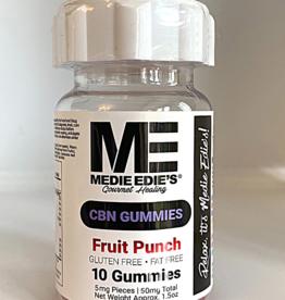 Medie Edie's Medie Edie's 10ct CBN Gummies Fruit Punch-5mg.50mg