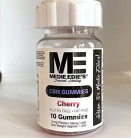 Medie Edie's Medie Edie's 10ct CBN Gummies Cherry-5mg.50mg