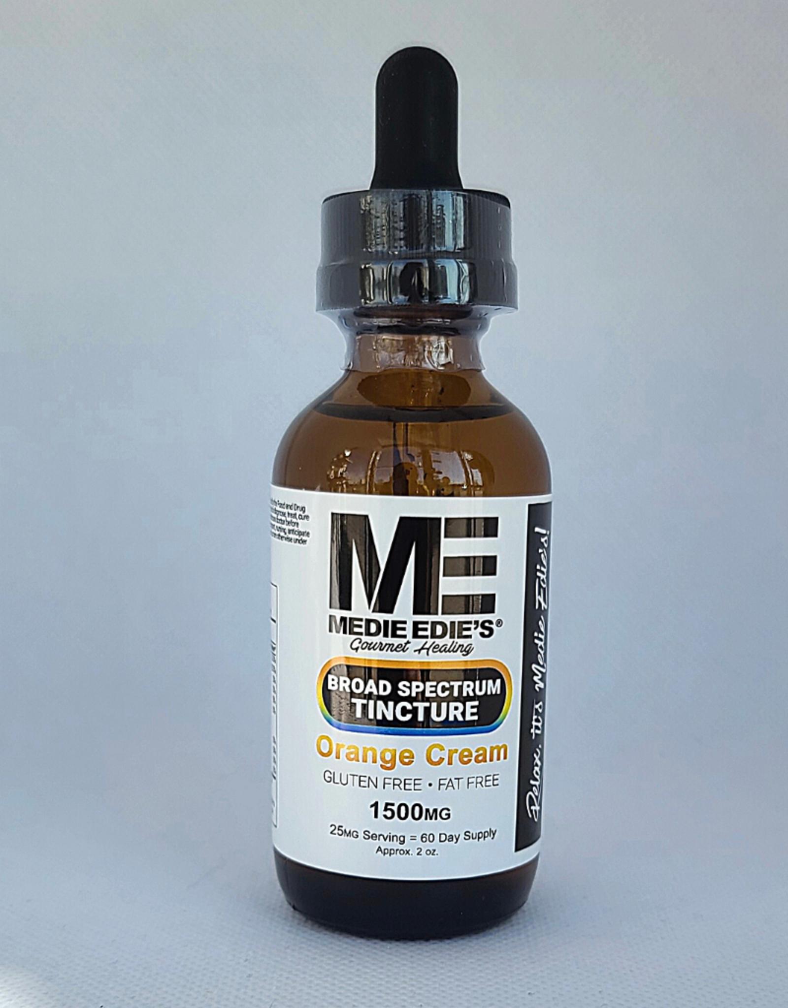 Medie Edie's Medie Edie's 60ml Broad Spectrum Tincture  Orange Cream - 25mg.1500mg