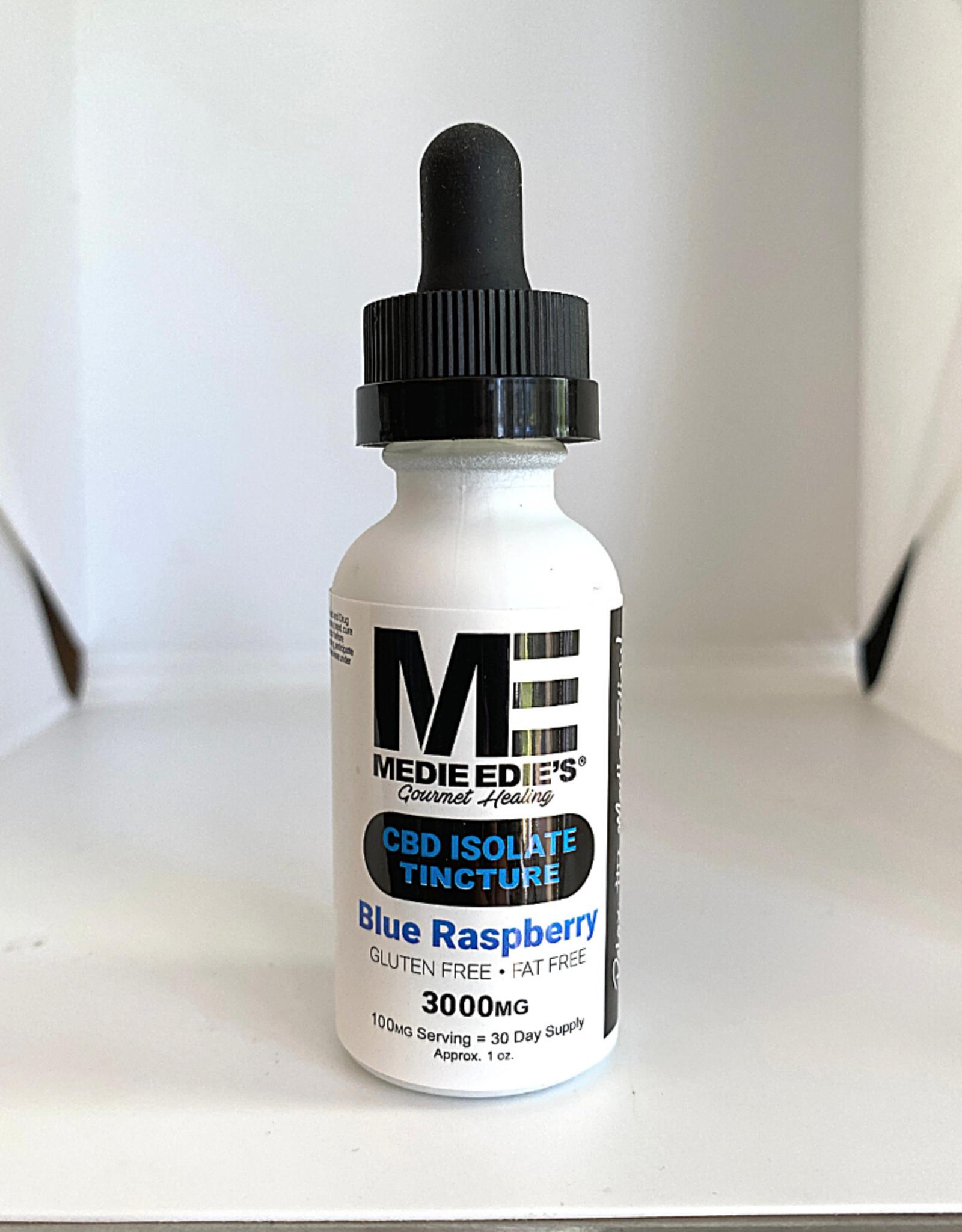Medie Edie's Medie Edie's 30ml  CBD Tincture Blue Raspberry- 100mg.3000mg